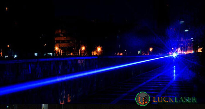 Cool golden style 2000mw blue laser pointer